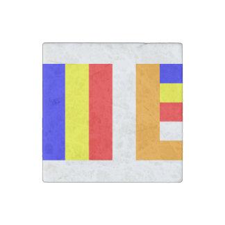 Buddhist Flag Stone Magnet