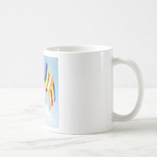 Buddhist_Flags Classic White Coffee Mug