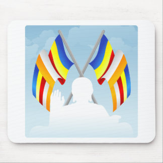 Buddhist_Flags Mouse Pad