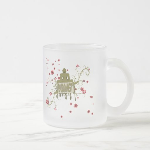 Buddhist Floral Coffee Mugs