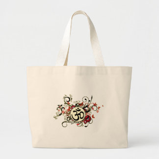 Buddhist Floral Om Bags
