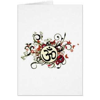 Buddhist Floral Om Card