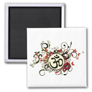 Buddhist Floral Om Magnet