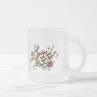 Buddhist Floral Om Coffee Mugs