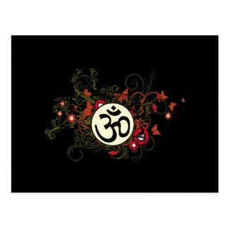 Buddhist Floral Om Postcard