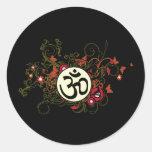 Buddhist Floral Om Sticker