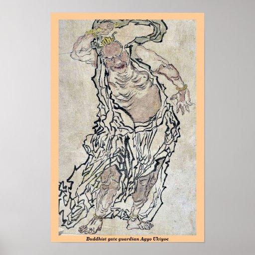Buddhist gate guardian Agyo Ukiyoe Poster