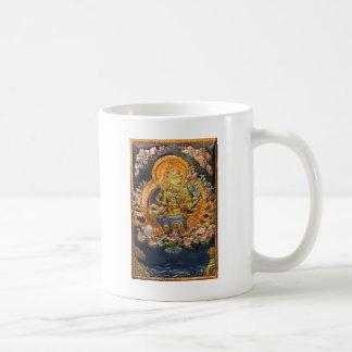 BUDDHIST GODDESS GREEN TARA METALLIC INLAY COFFEE MUG