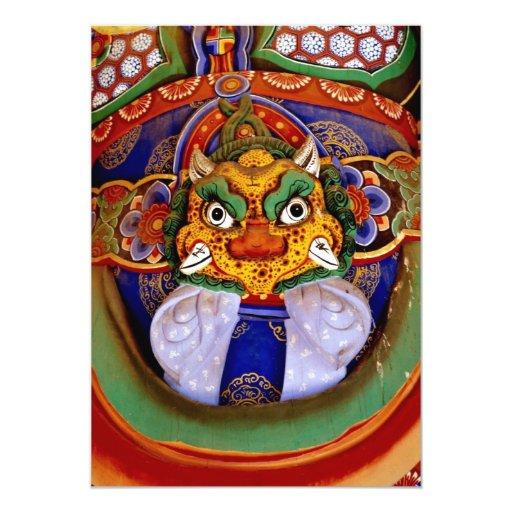 Buddhist image picture, temple custom invitations