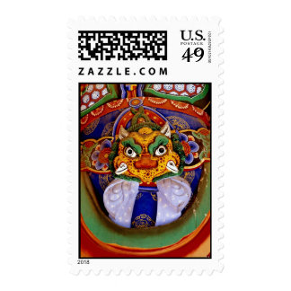 Buddhist image picture, temple postage stamps