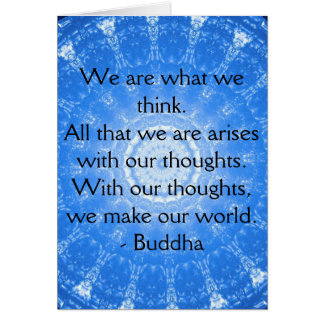 Buddhist inspirational QUOTE Card