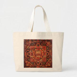 Buddhist Mandala of Compassion Large Tote Bag