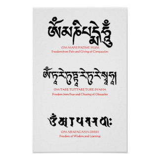 Buddhist Mantra Poster