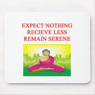buddhist meditation new age design mouse pad