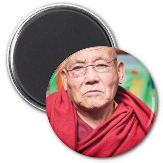 Buddhist Monk in Red Robe Magnet
