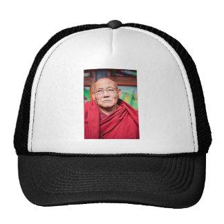 Buddhist Monk in Red Robe Trucker Hat