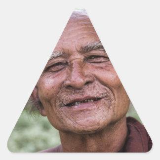 Buddhist Monk Triangle Sticker