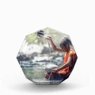 Buddhist Monk Washing Implements Acrylic Award