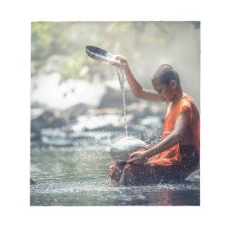 Buddhist Monk Washing Implements Notepad