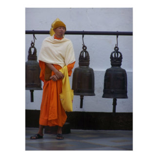 Buddhist Monk with Bells Print