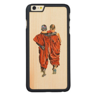Buddhist monks carved maple iPhone 6 plus case