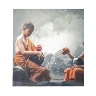 Buddhist Monks Washing Bowls Notepad