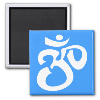 Buddhist & New Age Calligraphic Om Symbol 2 Inch Square Magnet