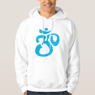 Buddhist & New Age Calligraphic Om Symbol Hoodie