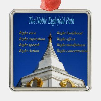 Buddhist Noble Eightfold Path Metal Ornament
