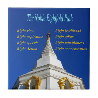 Buddhist Noble Eightfold Path Small Square Tile