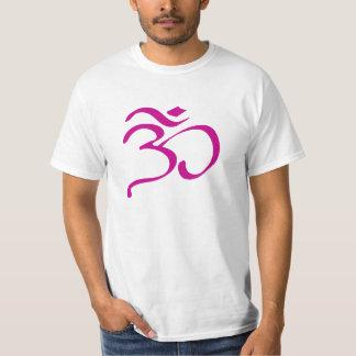 Buddhist Om (Aum) Symbol Men's White T-Shirt