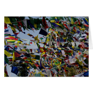 Buddhist Prayer Flags in the Breeze Stationery Note Card