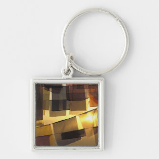 Buddhist prayer flags in the sunset, keychain