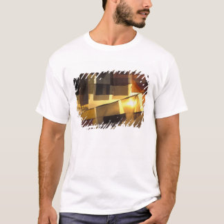 Buddhist prayer flags in the sunset, T-Shirt