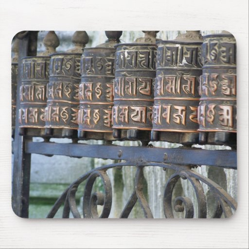 BUDDHIST PRAYER WHEEL PHOTOGRAPHY Mousepad