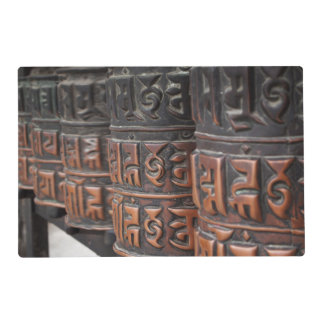 Buddhist prayer wheels placemat
