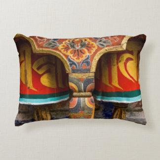 Buddhist praying role, bhutan accent pillow