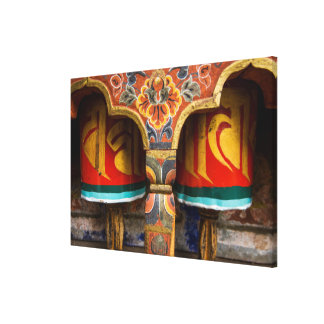 Buddhist praying role, bhutan canvas print