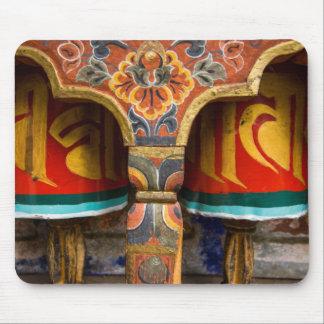 Buddhist praying role, bhutan mouse pad