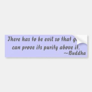 Buddhist Quote on Purity Bumper Sticker