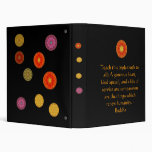 BUDDHIST QUOTE Teach this triple truth to all.. Vinyl Binder