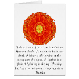 Buddhist Quote with vibrant spiritual design Greeting Card
