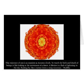 Buddhist Quote with vibrant spiritual design Card