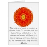 Buddhist Quote with vibrant spiritual design Cards