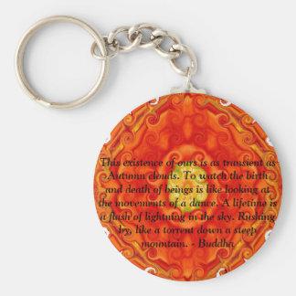 Buddhist Quote with vibrant spiritual design Key Chain
