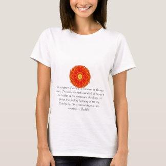 Buddhist Quote with vibrant spiritual design T-Shirt