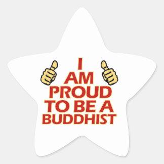 BUDDHIST religious designs Star Sticker