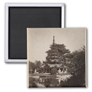 Buddhist rest house, Moulmein, Burma, c.1875 2 Inch Square Magnet