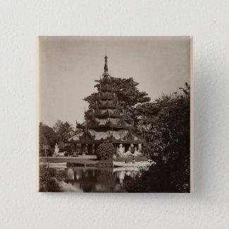 Buddhist rest house, Moulmein, Burma, c.1875 Button