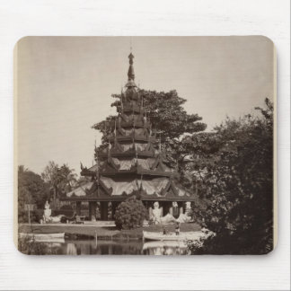 Buddhist rest house, Moulmein, Burma, c.1875 Mouse Pad